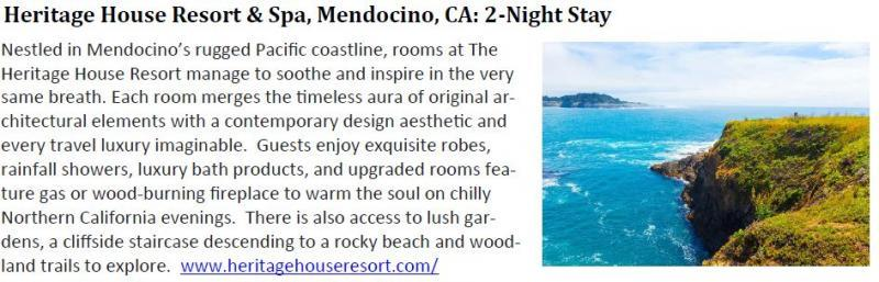Mendocino Resort and Spa - Two Night Stay